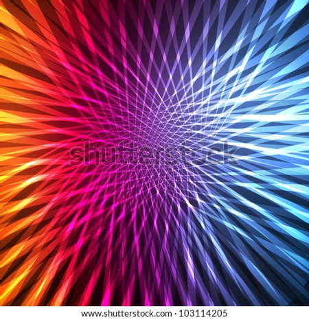 Neon abstract lines design on dark background vector - stock vector