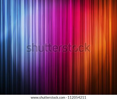Neon abstract lines design on dark background vector - stock vector