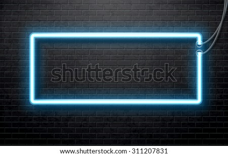 neon banner - stock vector