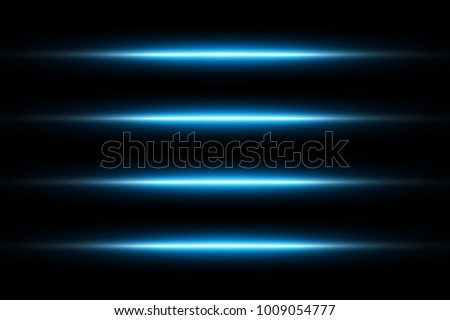Neon Blue Glowing Lights Line Abstract Wallpaper Background Template Vector