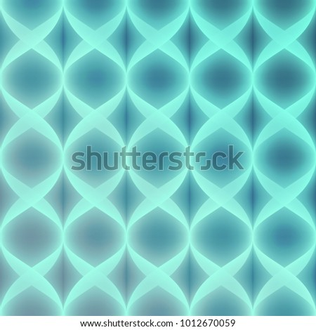 Neon Blue Vector Seamless Pattern. Bright neon effect. Layered pattern.