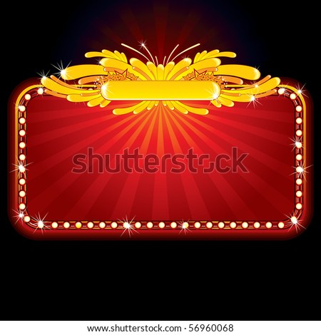Neon luxury sign-(vector elements separated and grouped)-MORE SIMILAR SIGNS SEE AT MY GALLERY - stock vector