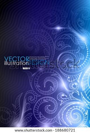Neon Pattern Background. Vector Illustration.  - stock vector