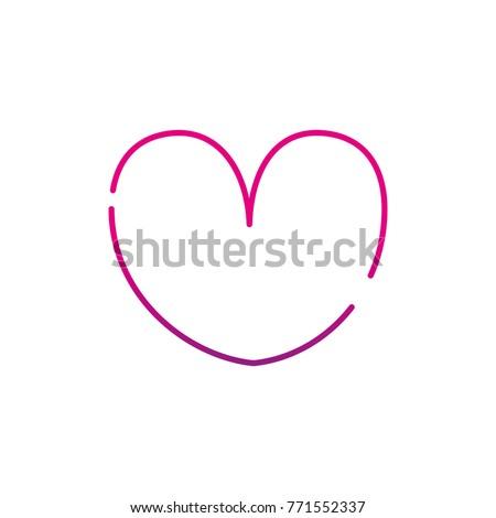 Neon Silhouette Heart Symbol Passion Love Stockvector 771552337