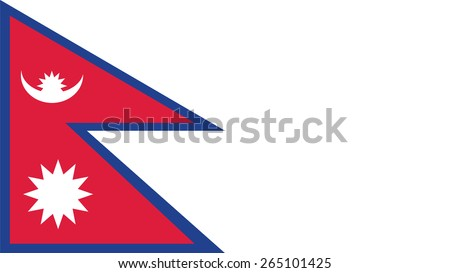 nepal Flag for Independence Day and infographic Vector illustration. - stock vector
