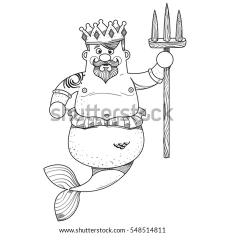 King Neptune Stock Images Royalty Free Images Vectors Drawing King