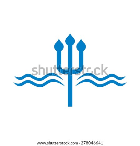 neptune logo water drop. logo template. - stock vector