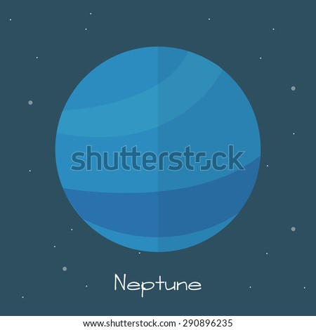 Neptune. vector illustration - stock vector