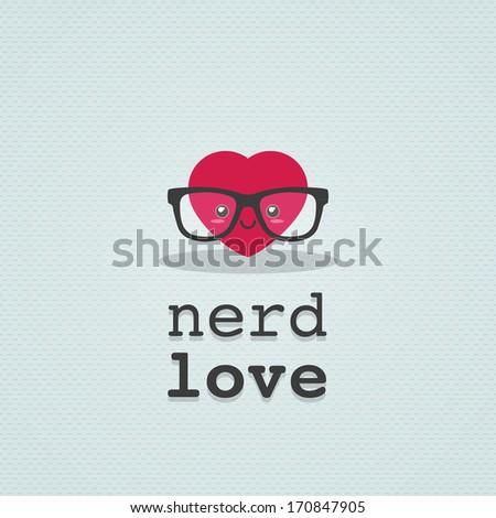 Nerd love - stock vector
