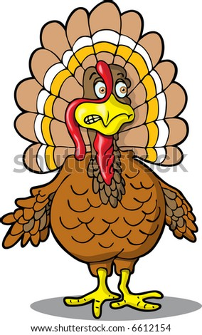 Nervous Turkey - stock vector