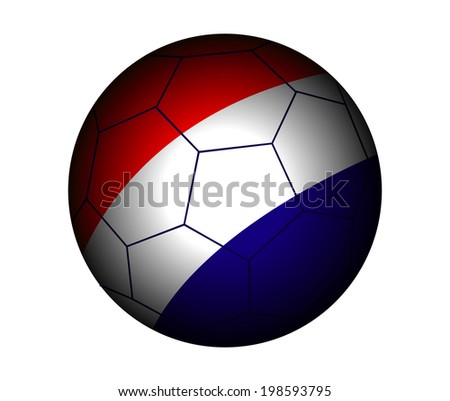 Netherlands Football Flag Vector