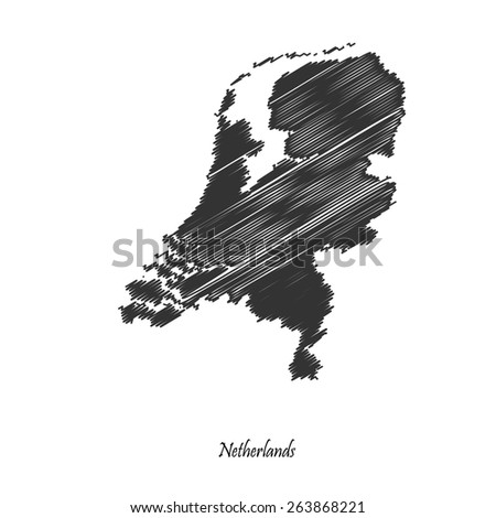 Netherlands map icon for your design, concept Illustration. - stock vector