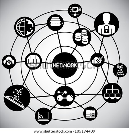network and internet info graphic