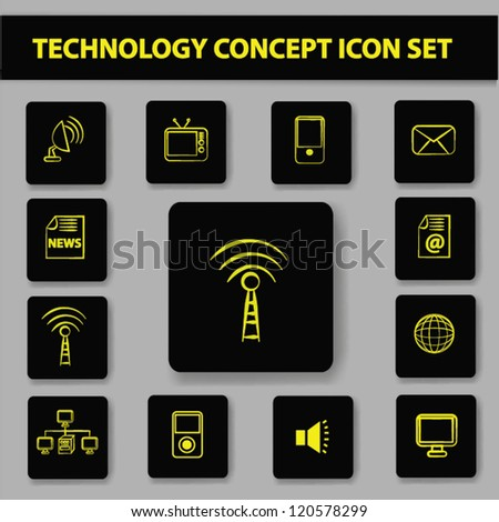 Network and technology icon set,Vector