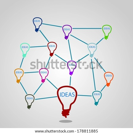 Network background with social media,  - stock vector