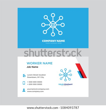 Network business card design template visiting stock vector royalty network business card design template visiting for your company modern horizontal identity card vector friedricerecipe Choice Image