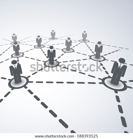 Network Concept - Business Connections - stock vector