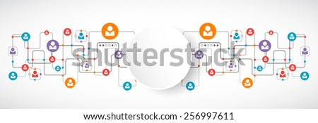 Network concept.  Social media. Vector - stock vector