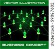 Network concept. Vector illustration. - stock vector
