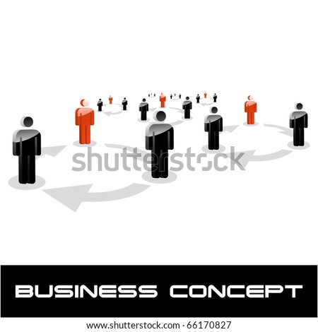 Network concept. Vector illustration. - stock vector