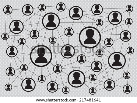 Network connection - stock vector