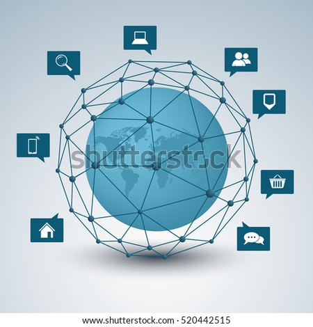 Network connection abstract design background