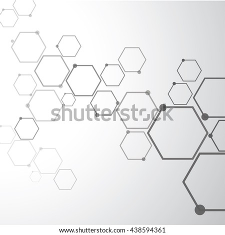 Network connection and molecular structure.