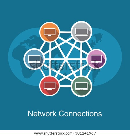 Network connections concept illustration. - stock vector