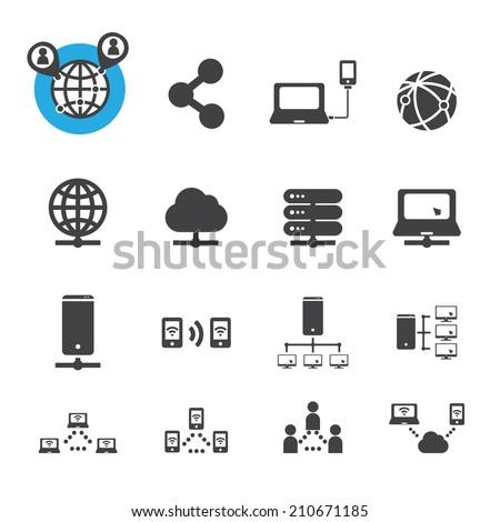 network icon - stock vector