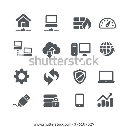 Network Icons // Utility Series - stock vector