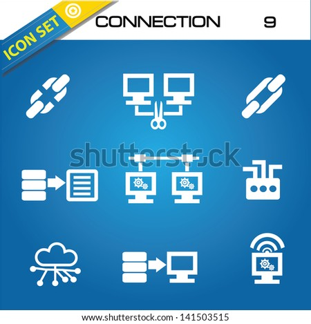 Network icons,vector - stock vector