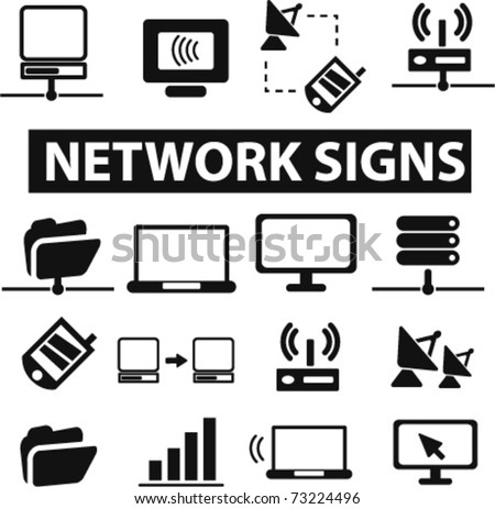 network icons, vector - stock vector