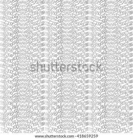 Network matrix coding program white row order concept code vector encoding algorithm cyberspace symbol tech binary stream data light element digital numerical typography black vertical technology gray - stock vector