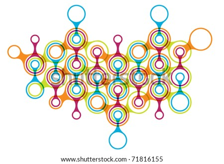 network relations - symbolic chart - stock vector