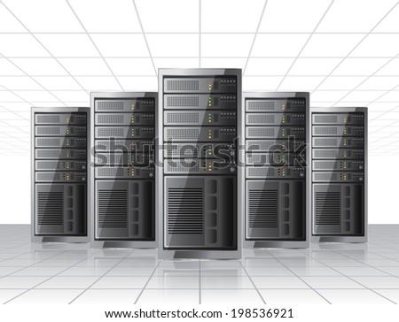 Network server - stock vector