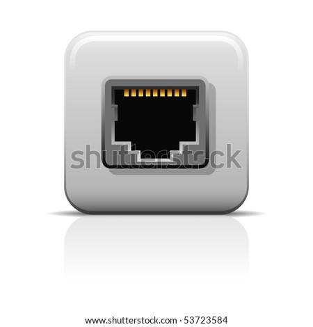Network Socket  Icon - stock vector