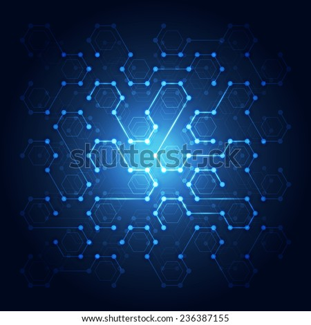 Network technology communication background, vector illustration - stock vector