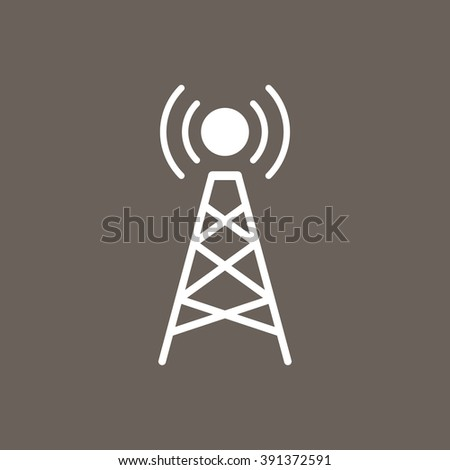Purple Icon Network Tower Eps10 Stock Vector 453085108 Shutterstock