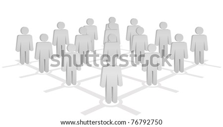 network with people - stock vector