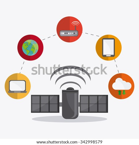 Networking concept and technology icons design, vector illustration 10 eps graphic.