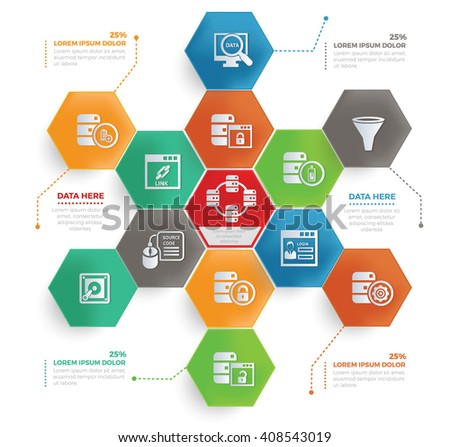 Networking concept info graphic design,vector - stock vector