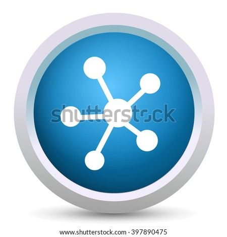 networking icon - stock vector