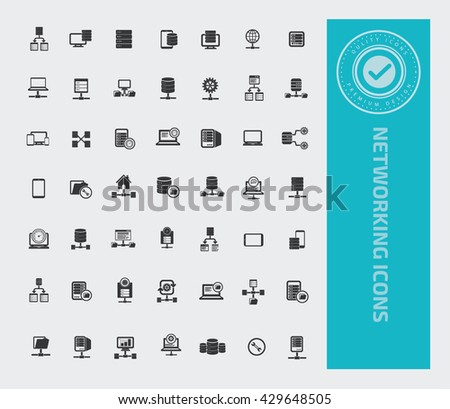 Networking icon set,vector - stock vector