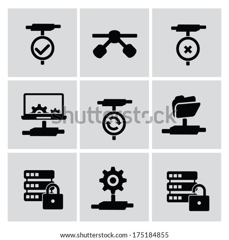 Networking icons,vector - stock vector