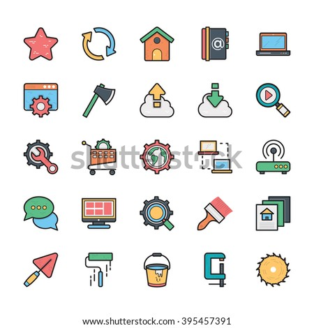 Networking, Web, User Interface and Internet Vector Icons 20