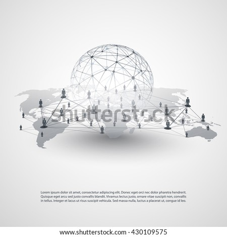 Networks - Business Connections - Social Media Concept Design - stock vector