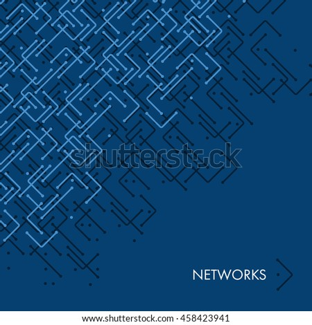 Networks, Connections - Mesh Pattern - Abstract Vector Background - stock vector