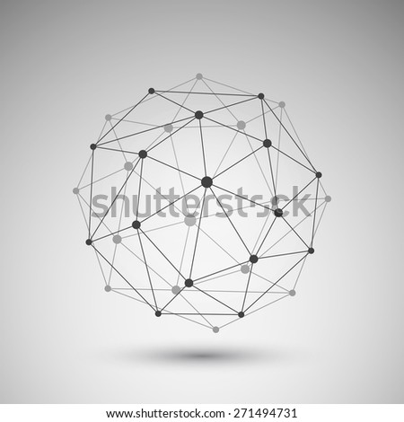 Networks - Globe Design - stock vector