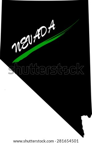 Nevada map vector in black and white background, Nevada map outlines in a new design - stock vector