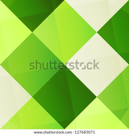 new abstract background with green colored squares can use like modern wallpaper - stock vector